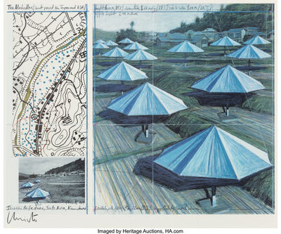 Christo, 'The Umbrellas', 1991