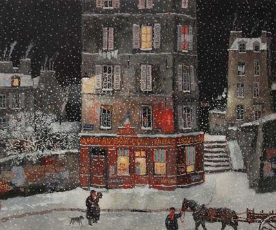 Michel Delacroix, 'Rue Croulebarbe sous la neige', 2015