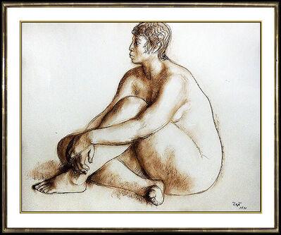 Francisco Zúñiga, 'Francisco Zuniga Original Pastel Painting Hand Signed Female Portrait Rare Art', 1970-1989