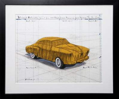 Christo, 'Wrapped Automobile (Project for 1950 Studebaker Champion Series)', 2015