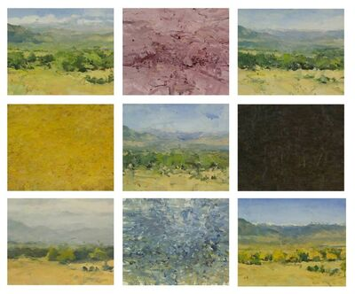 Jordan Wolfson (b.1960), 'Sky Mountains Valley in Nine States (nine panel polyptych)', 2010