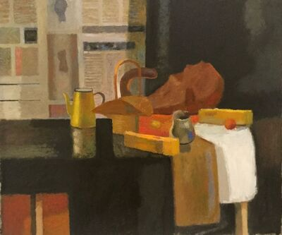 David Bradford, 'Still Life with Newspapers II', 2020