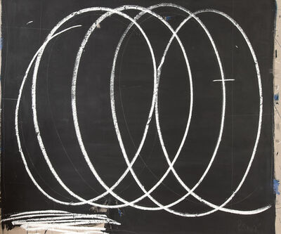 Briggs Edward Solomon, 'Black with Large White Swirls', 2014