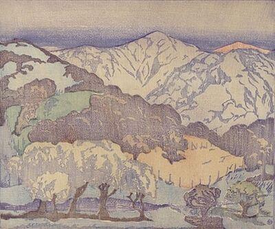 Anders Aldrin, 'California Hills - lighter palette; monoprint', ca. 1934