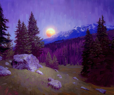 Rob Rey, 'Mountain Moonrise', 2018
