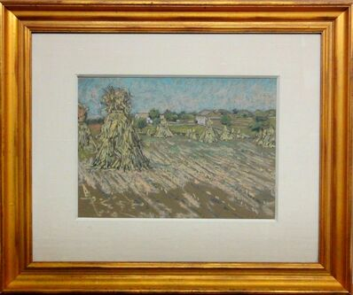 Charles S Kaelin, 'Haystacks in Pastel'