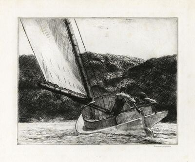 Edward Hopper, 'The Cat Boat.', 1922