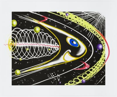 Kenny Scharf, 'Space Traveler Yellow | Unique', 2011