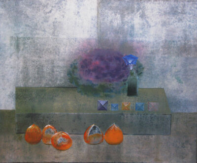 Morris Graves, 'FIVE PERSIMMONS, FIVE JEWELS AND FLOWERING CABBAGE IN MORNING GLORY  ', 1991