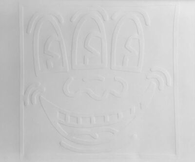 Keith Haring, '3-Eyed Smiley (White Icon)', 1990