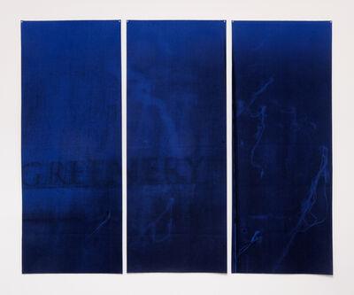 Aurélie Pétrel, 'Feutres #3 (Bleu - Greenery)', 2017