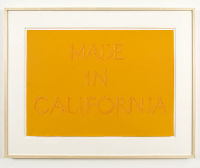 Ed Ruscha, 'Made in California', 1971
