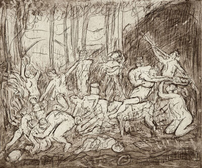 Leon Kossoff, 'The Triumph of Pan No. 4 (after Poussin)', 1998