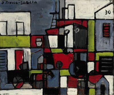 Joaquín Torres-García, 'Port constructif avec ciel bleu (Puerto constructivo con cielo azul) ', 1930