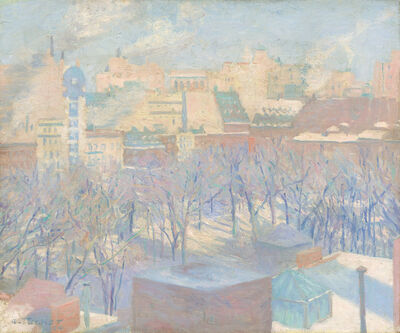 Allen Tucker, 'Madison Square, Snow', 1904