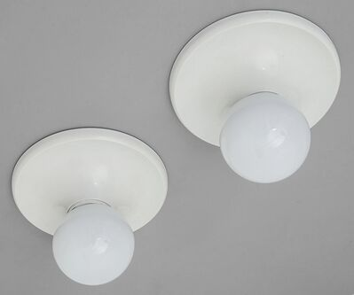 Achille and Pier Giacomo Castiglioni, 'Two wall or a plafone or TABLE lamps 'Light Ball' for FLOS', 1965