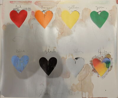 Jim Dine, 'Eight Hearts', 1970