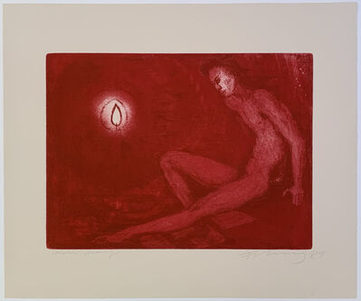 Rainer Fetting, 'Man and candle', 1989
