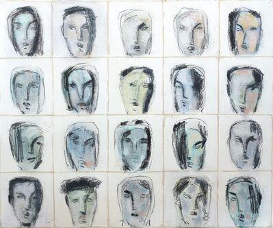 Bernhard Zimmer, 'Faces 46', 2014