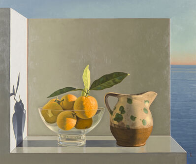 David Ligare, 'Still Life with Pitcher and Oranges', 2001