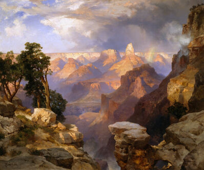 Thomas Moran, 'Grand Canyon with Rainbow', 1912