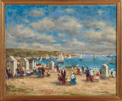 Jean Valois, 'Three Oil On Canvas Beach Scenes'