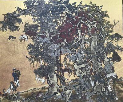 Yang Jiechang 杨诘苍, 'Mustard Seed Garden - Young Man with Leopard', 2014-2016