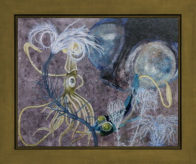 Yang Mao-Lin 楊茂林, 'Wanderers of the Abyssal Darkness.Deep-Sea Google- Eye Meets Giant Squid S2001', 2020