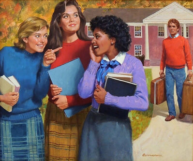 Robert Berran, 'Here Come the Boys, The Girls of Canby Hall Book Cover', 1985