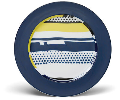 Roy Lichtenstein, 'Six abstract service plates', 1990