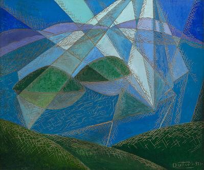 Gerardo Dottori, 'Luci sul lago', 1971