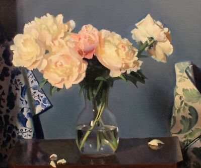 Joshua O'Donnell, 'Peonies with Fabric Rolls', 2016