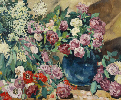 Louis Valtat, 'Fleurs au vase bleu', ca. 1927