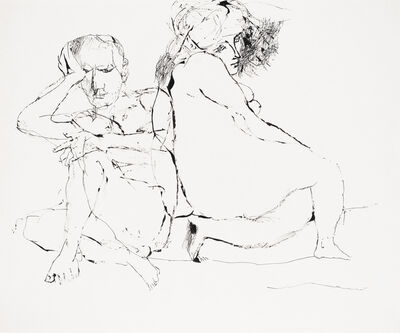 Lajos Szalay, 'Double work : The couple / Disillusion', ca. 1970