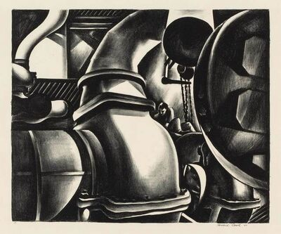 Howard N. Cook, 'ENGINE ROOM (D. 128)', 1930