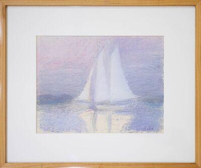 Wolf Kahn, 'Sailboat off of Martha's Vineyard', 1965