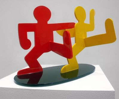 Keith Haring, 'Two Dancing Figures', 1989