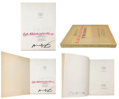 "Andy Warhol, '""Beuys - Rauschenberg - Twombly - Warhol"", SIGNED Exhibition Catalogue by Beuys/Rauschenberg/Warhol, Munich Prestel', 1982"