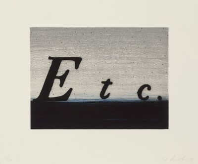 Ed Ruscha, 'Etc.; If; South; Question & Answer, set of four', 1991