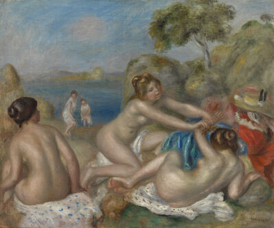 Pierre-Auguste Renoir, 'Bathers Playing with a Crab', ca. 1897