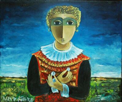 Yosl Bergner, 'Girl and pearls', ca. 1989