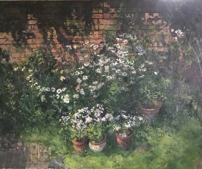 Peter Kuhfeld NEAC, 'Daisies and Plant Pots', Not known
