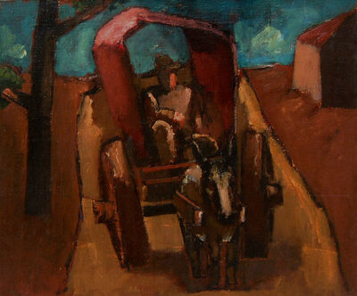 Josef Herman RA, 'Buggy on the Road', ca. 1954