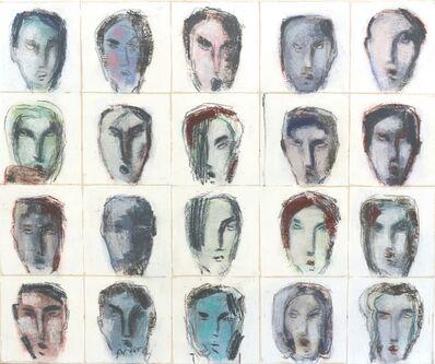 Bernhard Zimmer, 'Faces 45', 2014