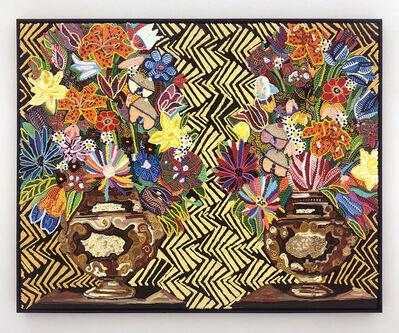 Caroline Larsen, 'Two Vases with Flowers, Spanish School, 18th Century', 2018