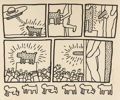Keith Haring, 'The Blueprint Drawings (see Littmann p.177)', 1990