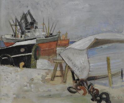 Rene Genis, 'La barque retournée (Bordeaux)', ca. 1958