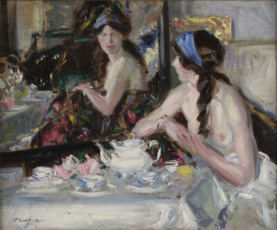 Francis Campbell Boileau Cadell, 'At the Mirror', 1913