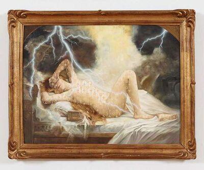 Zevs, 'Illuminated Leon Francois Comerre, Danae and the Shower of Gold', 2013