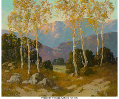 Ernest Henry Pohl, 'Sycamores and Live Oaks, Dehesa Valley, San Diego County, California'